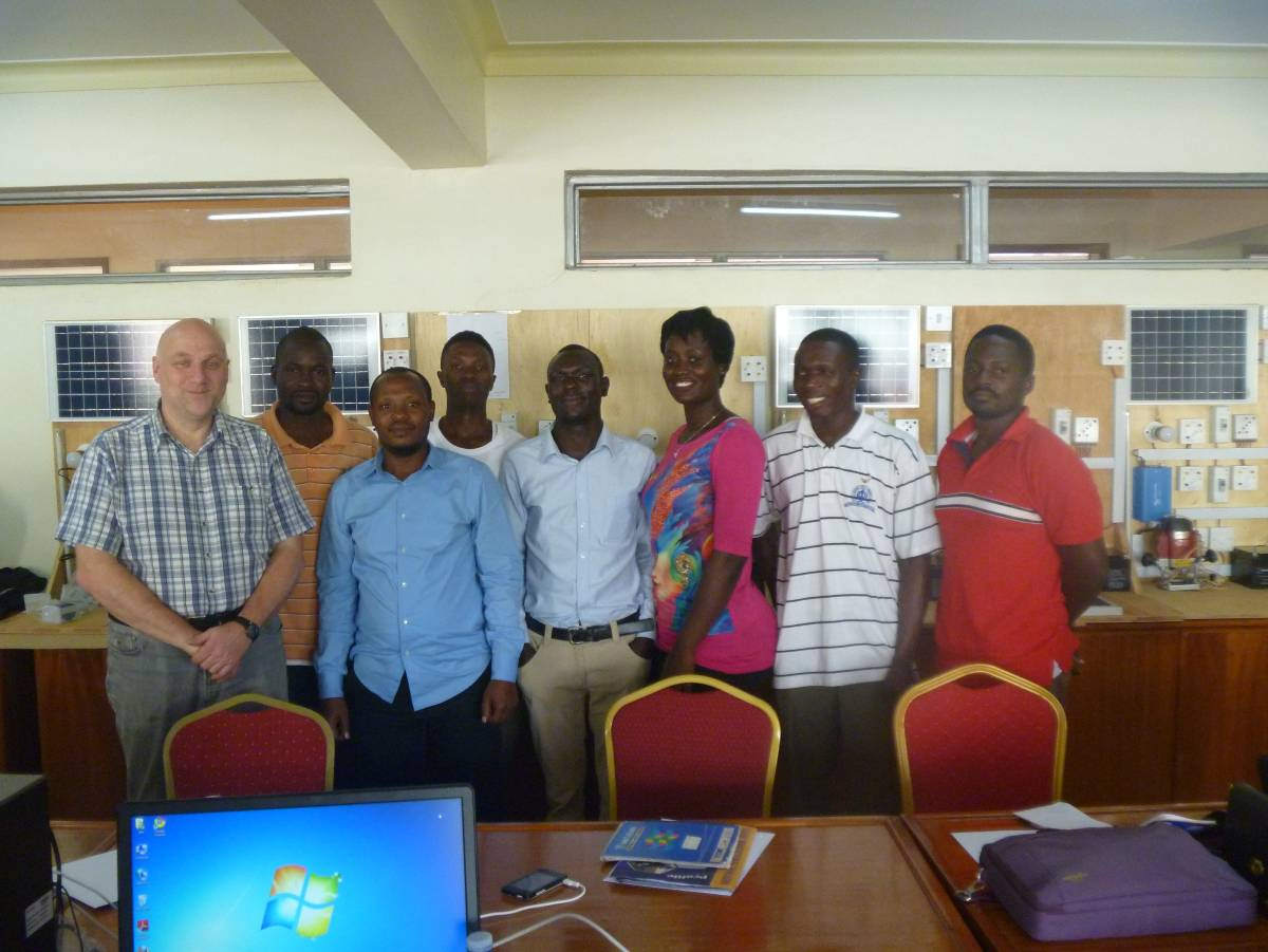 Manfred Becker and Ugandan trainees at NVTI